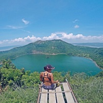 Girl, Unspotted -- Taal Volcano
