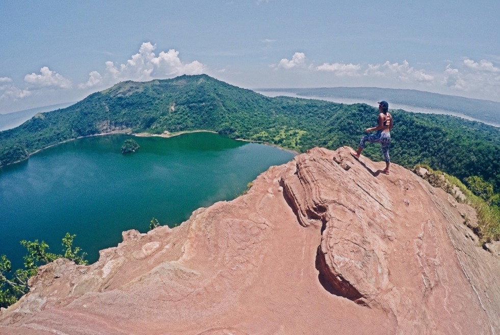 Girl, Unspotted Taal Volcano
