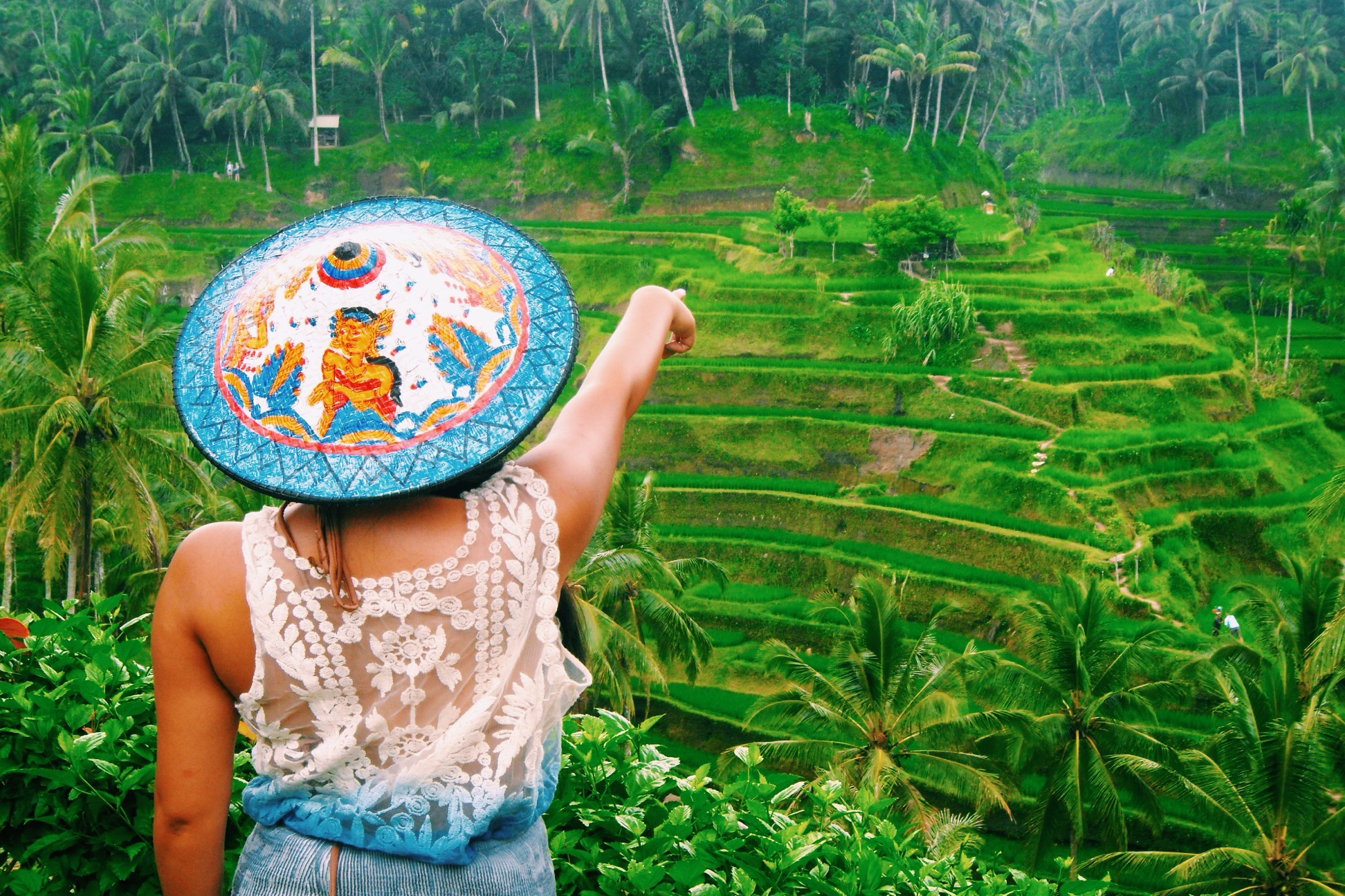Lushing out in tegalalang rice terraces for Kids on the terrace