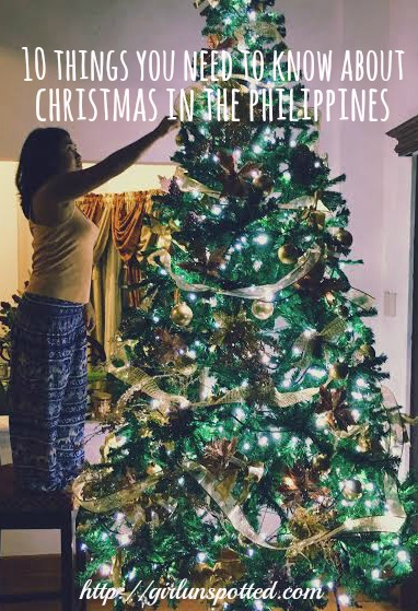 Girl, Unspotted -- Philippines Christmas