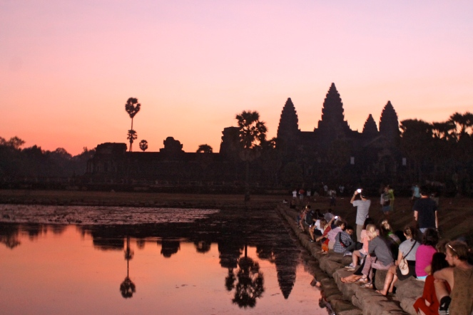 Girl, Unspotted -- Angkor Wat sunrise