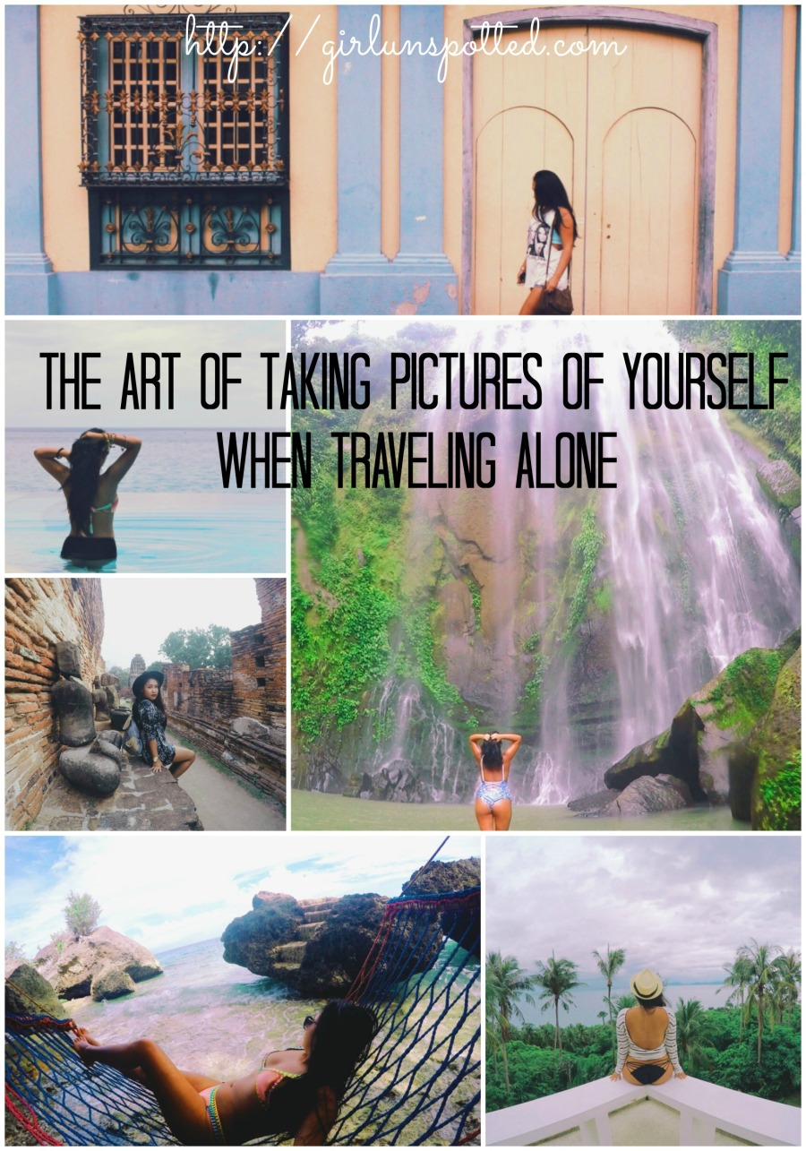 ways take photos yourself when travelling solo