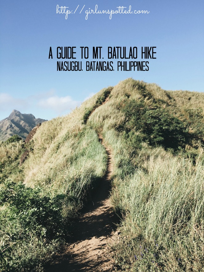Girl, Unspotted -- Hiking mt. Batulao