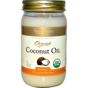 Girl, unspotted coconut oil