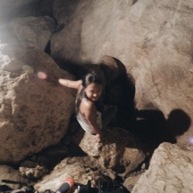 Girl, Unspotted -- sagada sumaguing cave spelunking