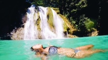 girl, unspotted daranak waterfalls